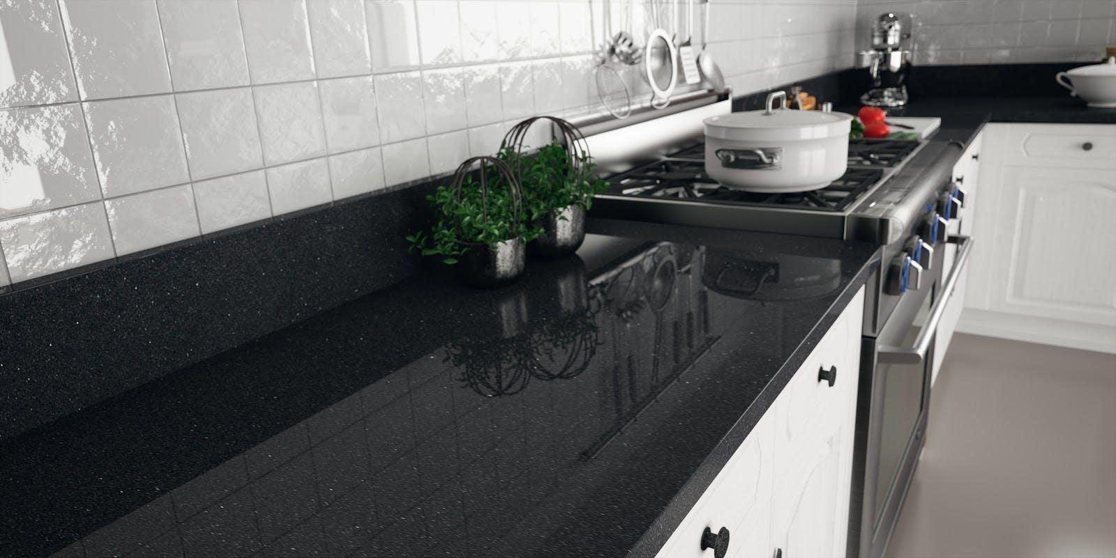 Black Galaxy Granite in the Kitchen