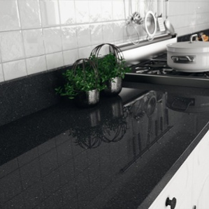 Black Granite Countertop and Cabinet Pairings