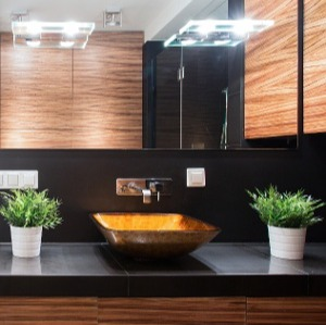 Black bathroom countertops-Academy Marble