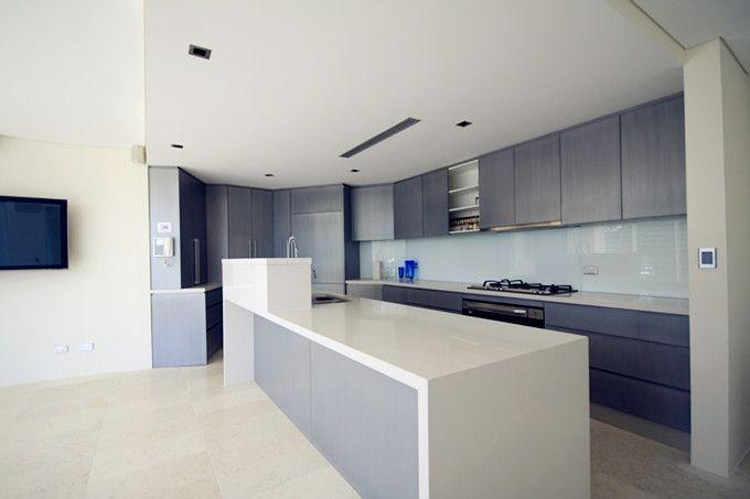 Ice Snow Caesarstone quartz kitchen countertops