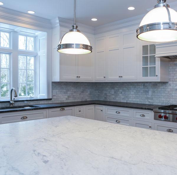 Kitchen Countertop Idea- Two Tone Countertop