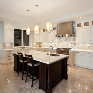 Kitchens Featuring Carrara Marble