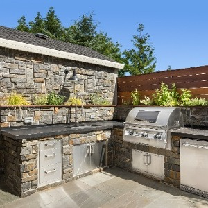 L-Shaped Outdoor Kitchen Design Ideas
