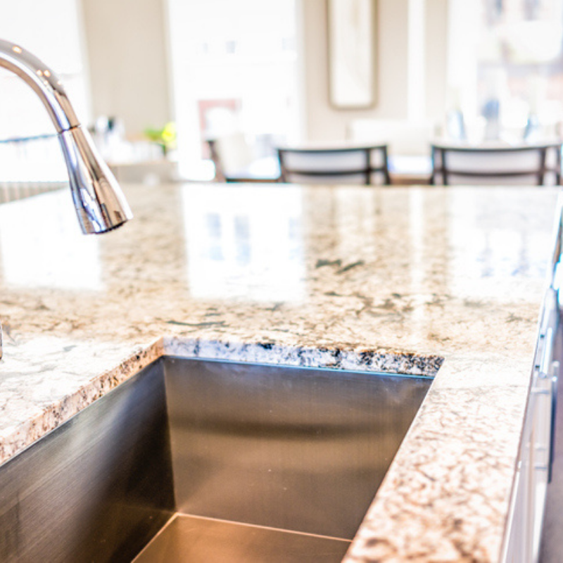 Polished finished countertop