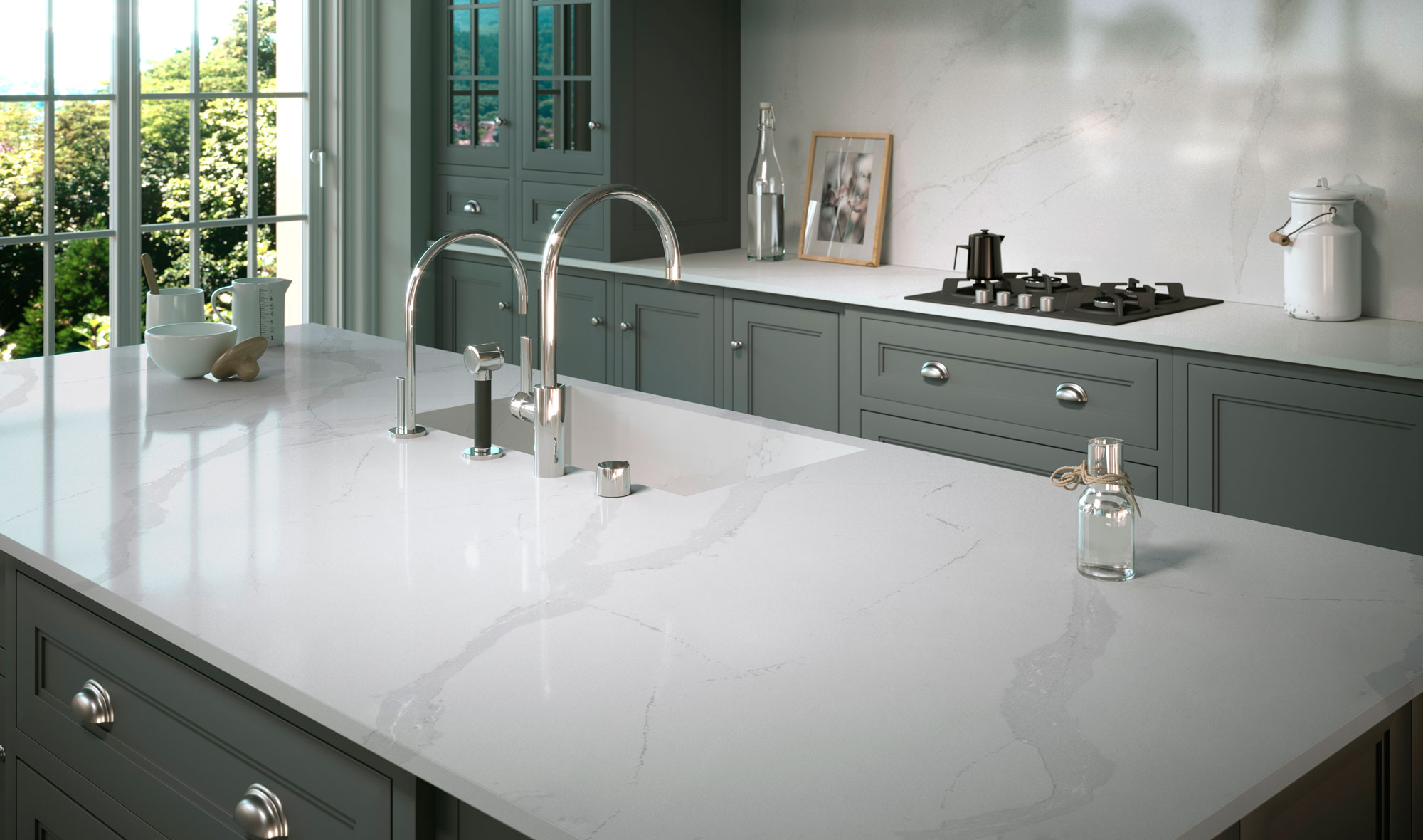 5 Veined Quartz Countertops That Mimic The Look Of Natural Stone