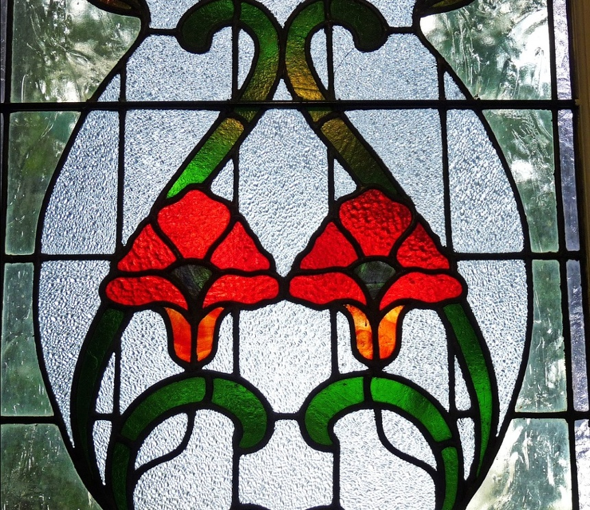 Add stained glass to your craftsman kitchen