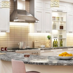T-Shaped Kitchen Island Countertops