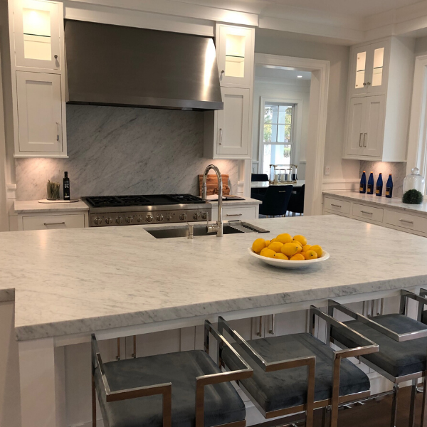 White Carrara Marble - Greenwich, CT