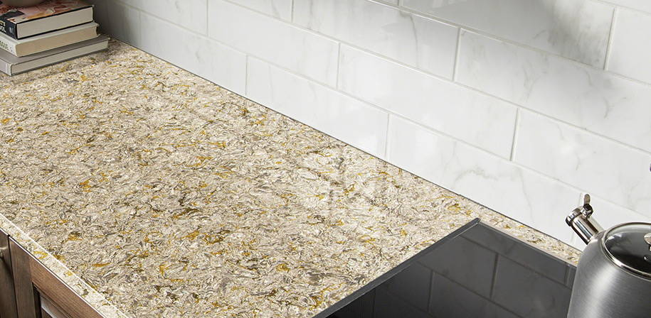 Chantilly Taupe quartz countertops from MSI