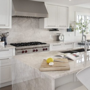 Countertops Made of Quartz that Looks Like Marble