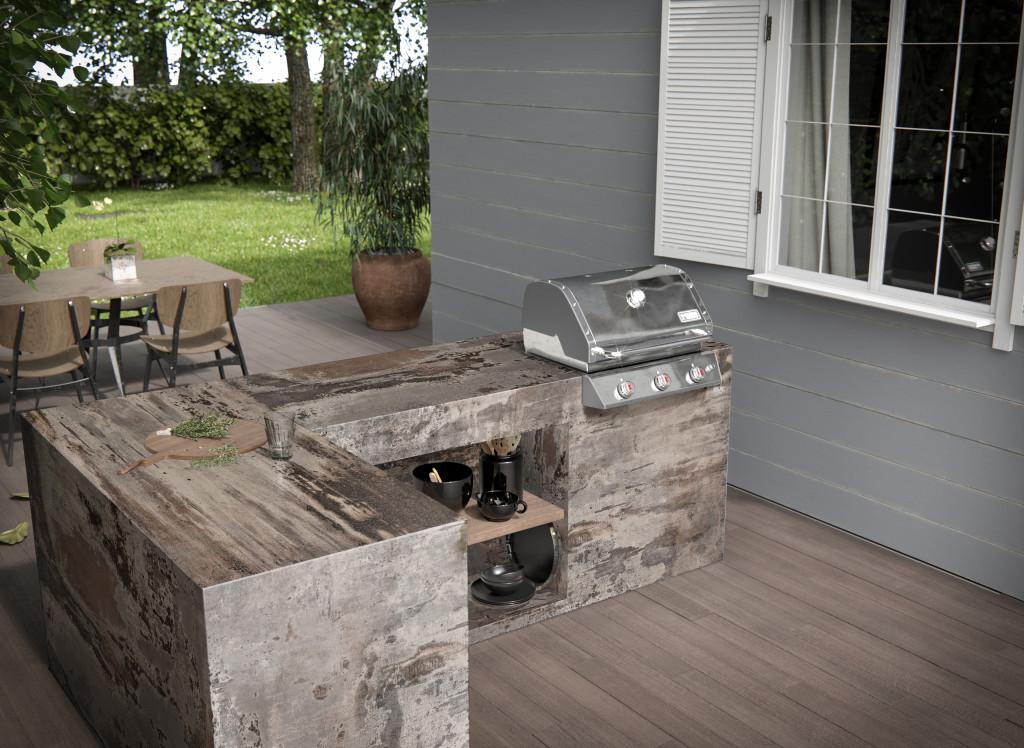 Dekton outdoor kitchen