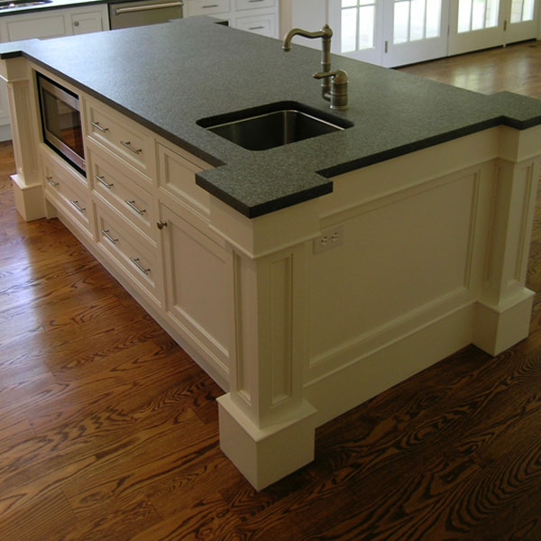 Absolute Black Granite Kitchen Island, Westport, CT
