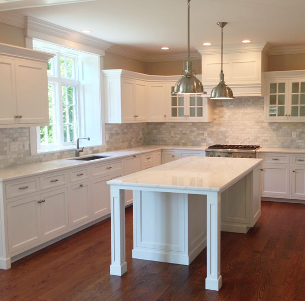 White Macaubas Quartzite Kitchen, Ridgefield, CT
