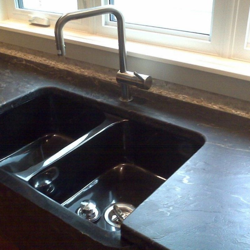 leather countertop finish
